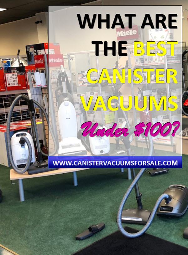 Best canister vacuums under $100