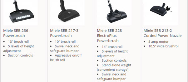 Miele power heads