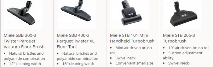 Miele turbo heads