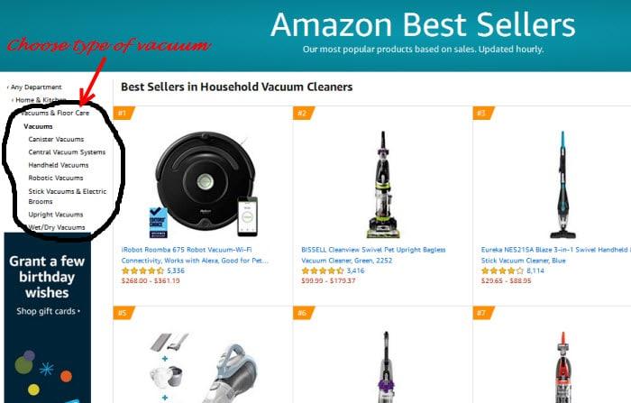 Amazon best sellers on vacuums
