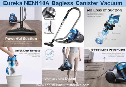 Eureka NEN110 Bagless Canister Vacuum
